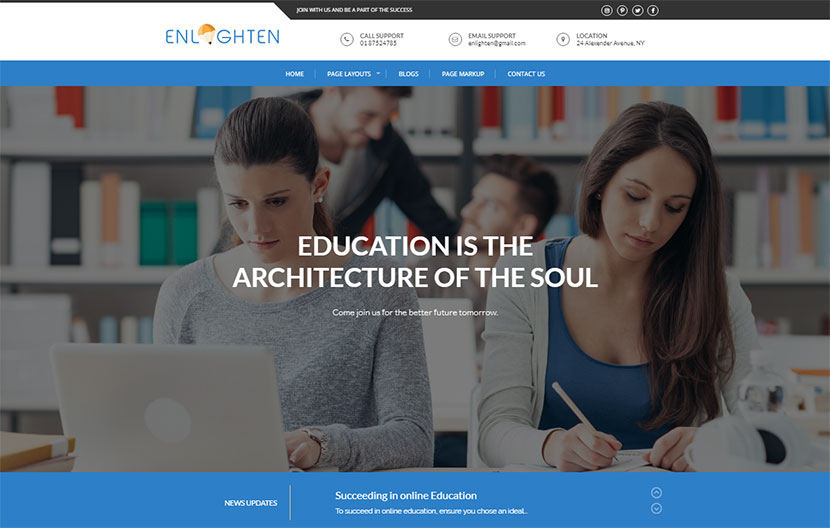 free-education-wordpress-theme-enlighten