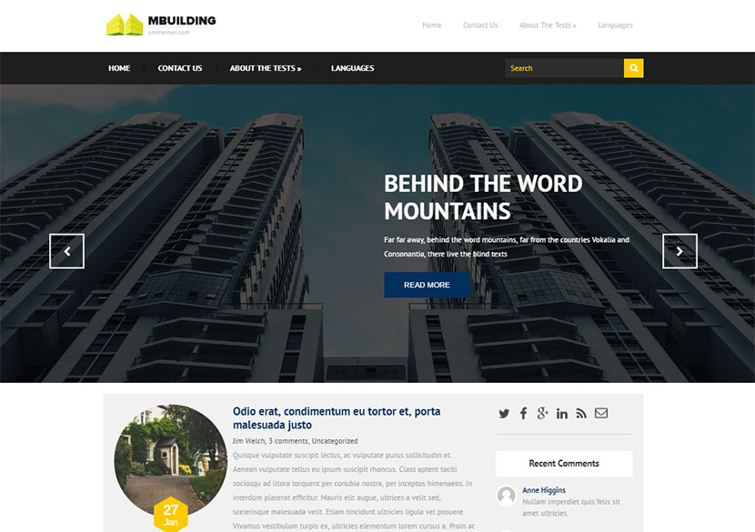 mbuilding-free-wordpress-theme