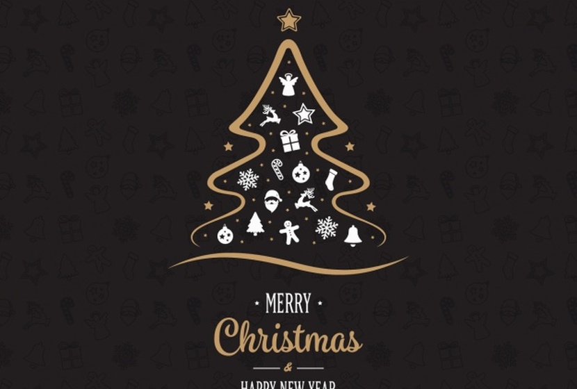 christmas-background-design-free-vector