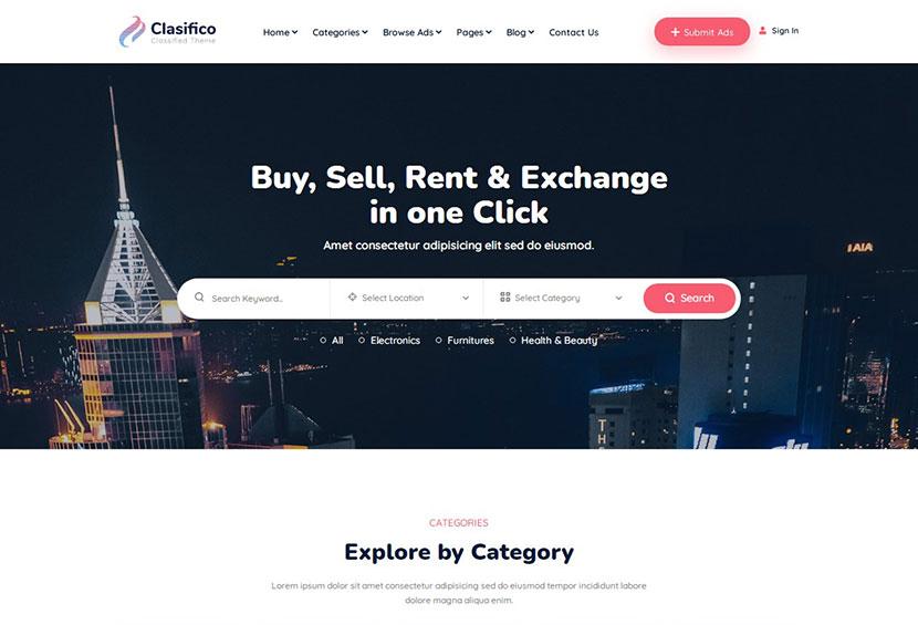 Clasifico - Classified Ads WordPress Theme