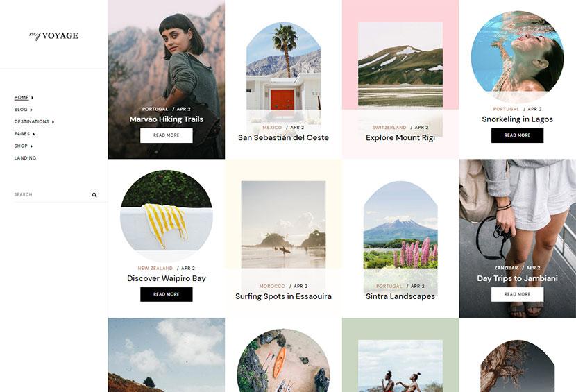 MyVoyage - Travel Blog WordPress Theme