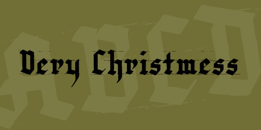 very-christmess-font