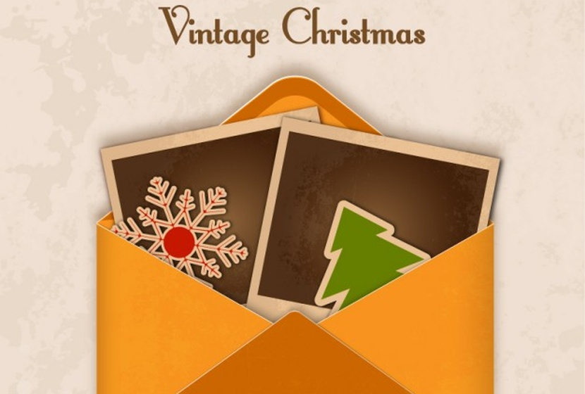 vintage-envelope-for-christmas-free-vector