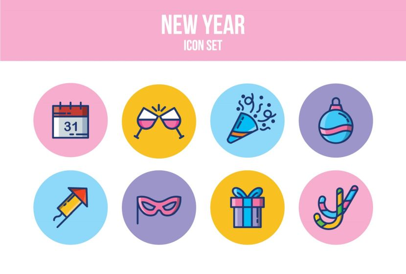 free-new-year-icon-set
