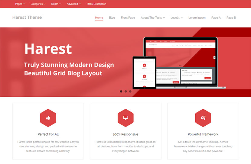 harest-free-wordpress-theme