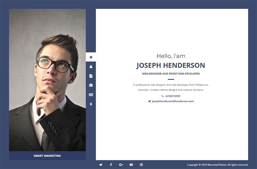 henderson-vcard-wordpress-theme