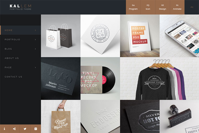 kallem-creative-portfolio-wordpress-theme