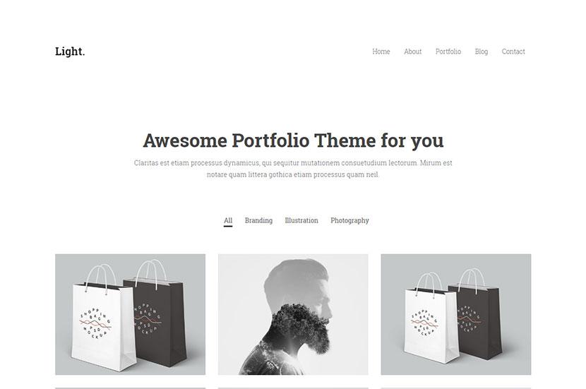 light-minimalist-wordpress-portfolio-theme