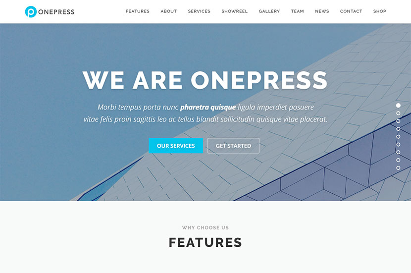 One-Page WordPress Themes - A Creative Collection - WP Daddy
