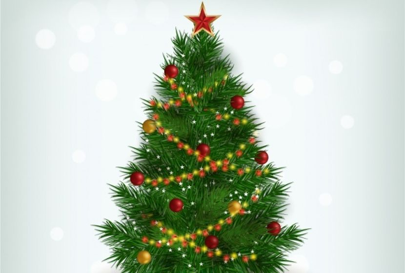 realistic-christmas-tree-free-vector