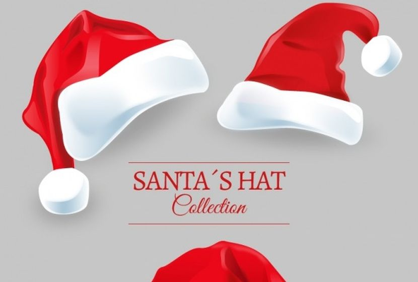 santa-claus-hats-pack-free-vector