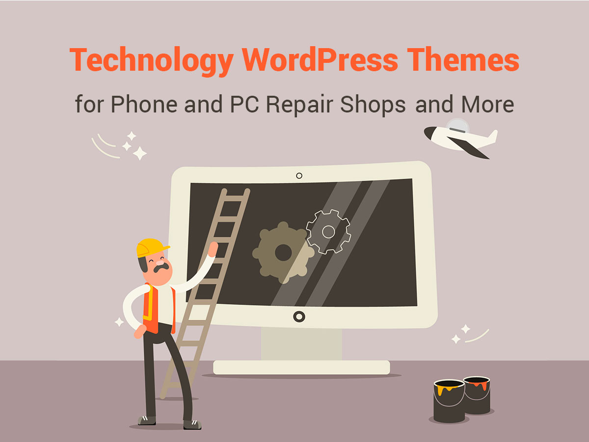 Technology WordPress Themes for Phone and PC Repair Shops and More
