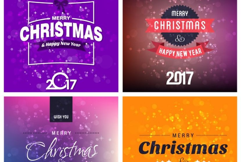 variety-of-christmas-cards-free-vector
