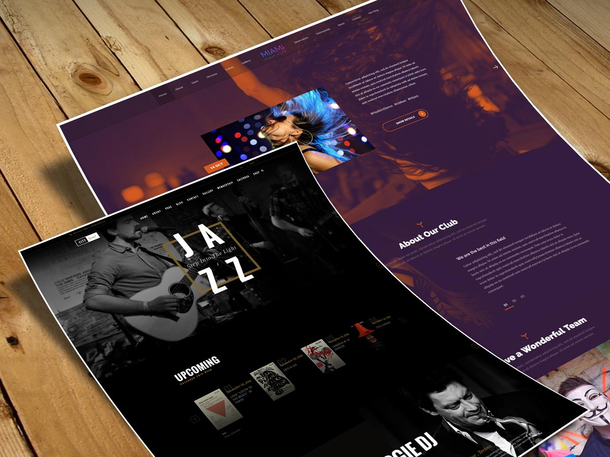 Music WordPress Themes for February 2017