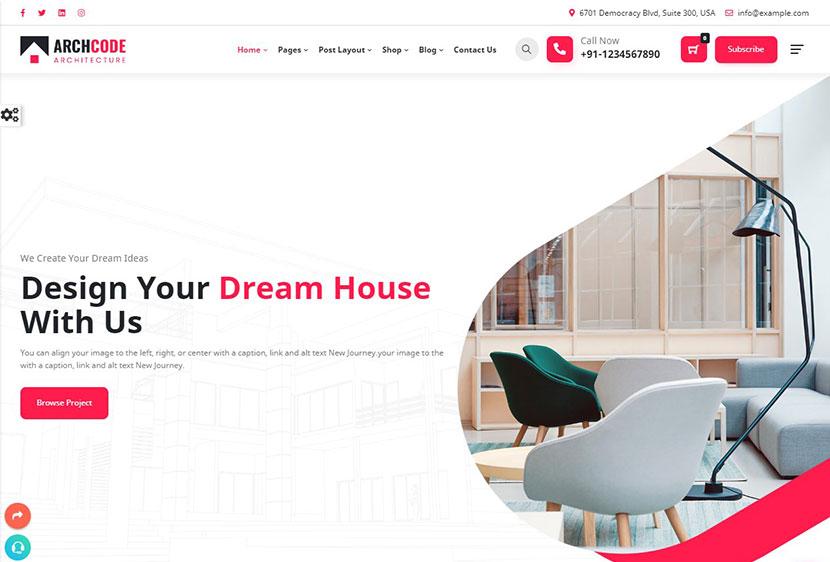 Archcode Architect Design WordPress Theme