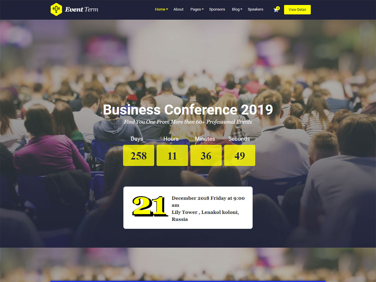 Conference and Event Management WordPress Themes