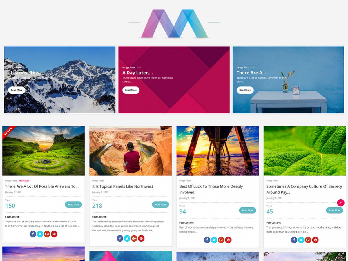 Material Design WordPress Themes for 2017