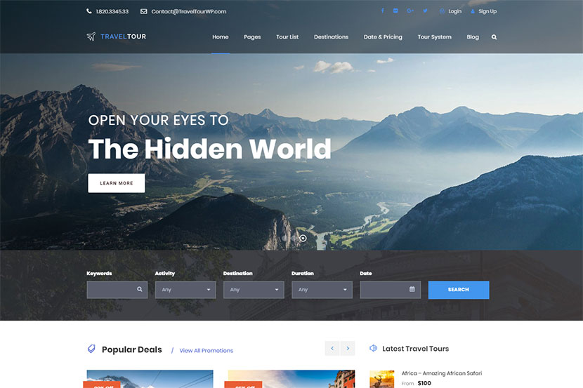 Tour and Travel Agency WordPress Themes - Best Ones - WP Daddy