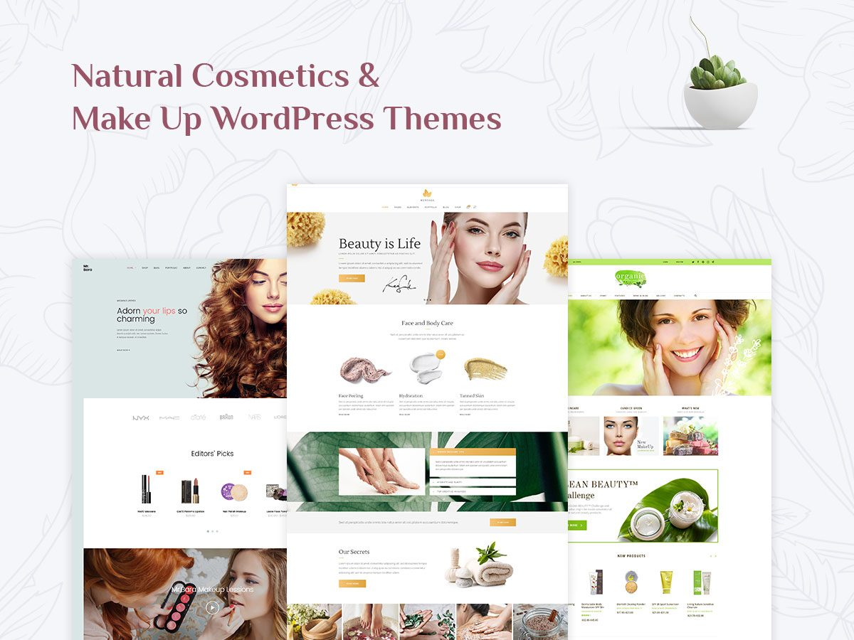 15+ Natural Cosmetics and Make Up WordPress Themes for Beauty Experts