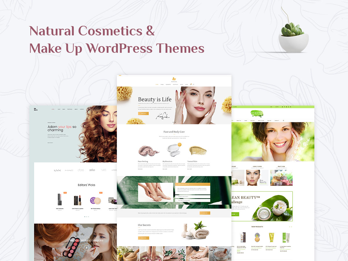 making wordpress templates - 15 natural cosmetics and make up wordpress themes for