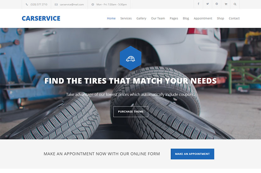 Car Wash and Repair WordPress Themes for April 2017 - WP Daddy