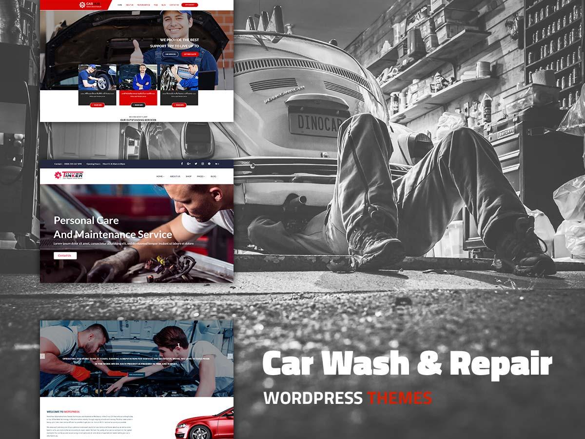 Car Wash and Repair WordPress Themes for April 2017