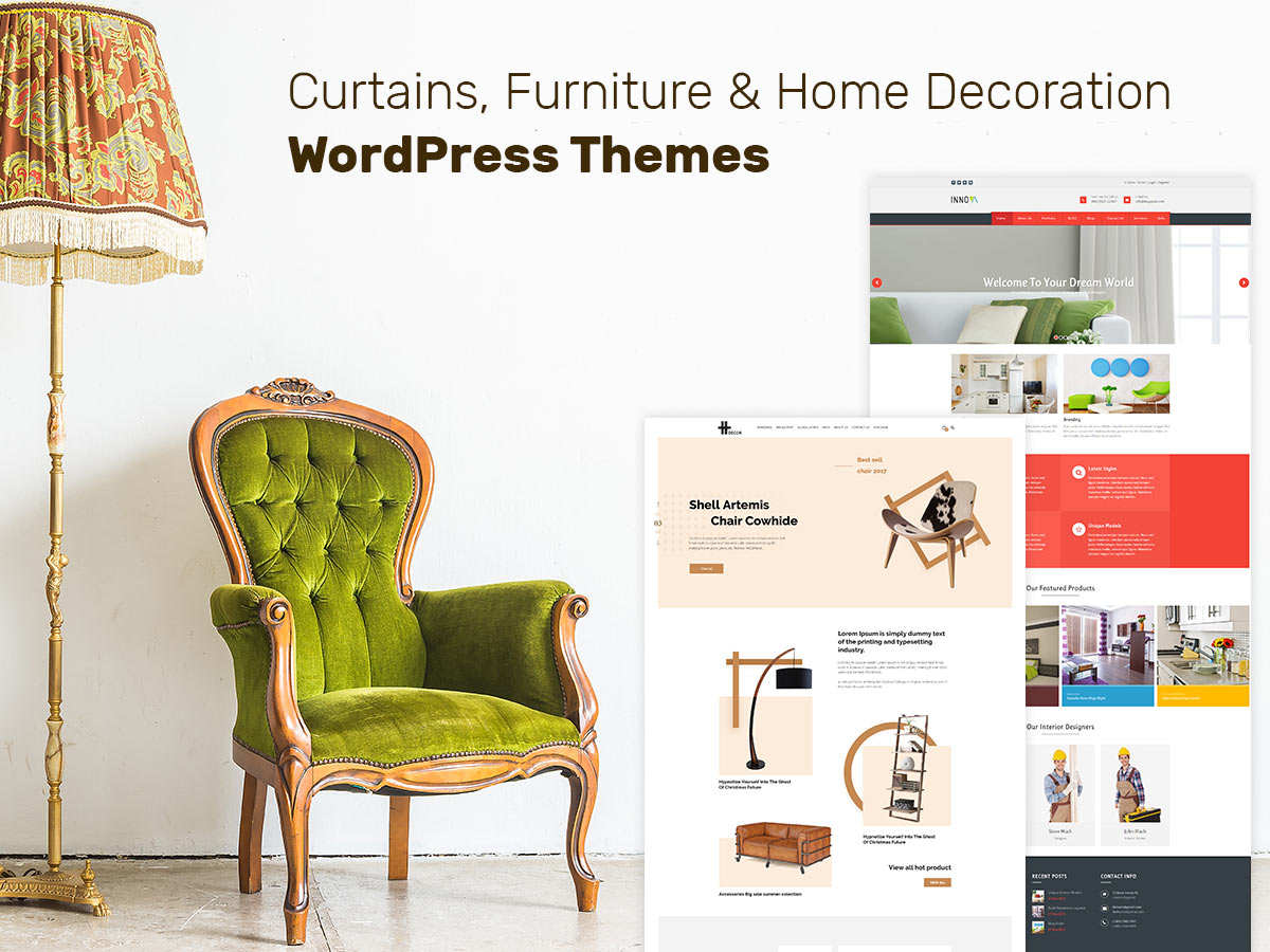 Curtains, Furniture and Home Decoration WordPress Themes for This Spring