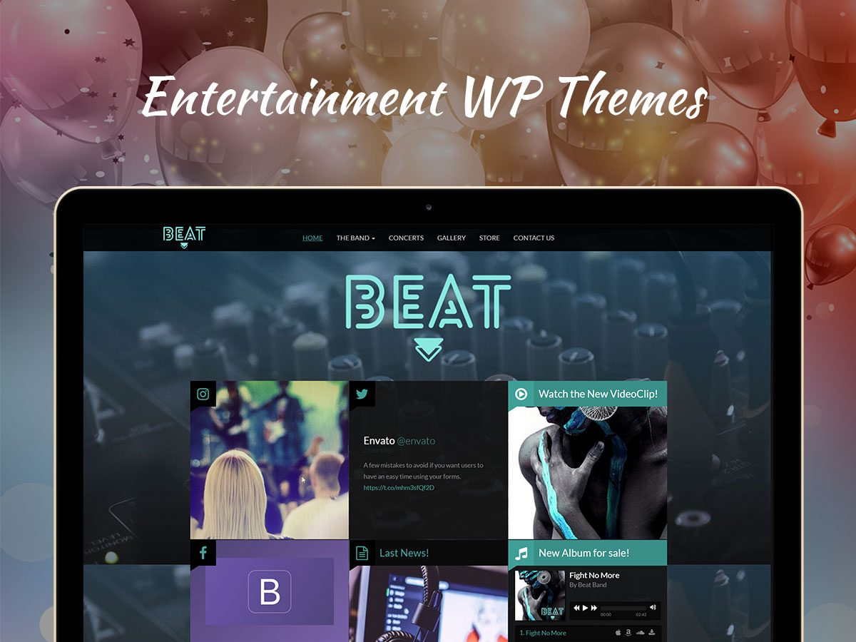 Entertainment WordPress Themes for 2017
