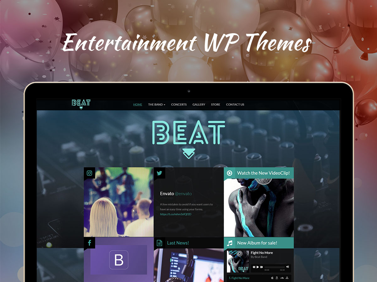 Entertainment WordPress Themes for 2017