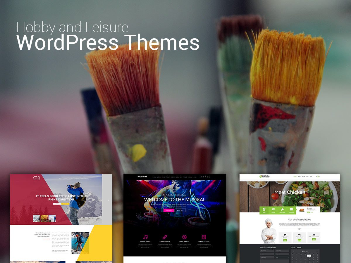 Hobby and Leisure WordPress Themes for March 2017