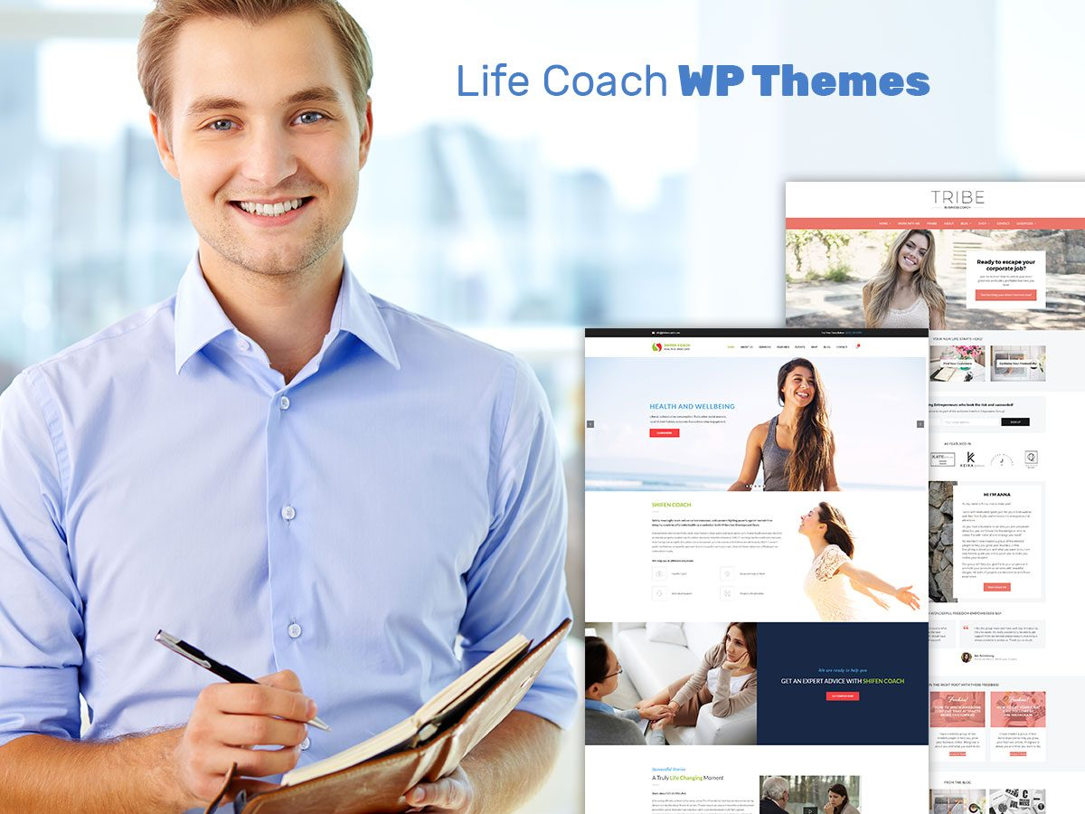 Life Coach WordPress Themes for Psychologists and Personal Trainers