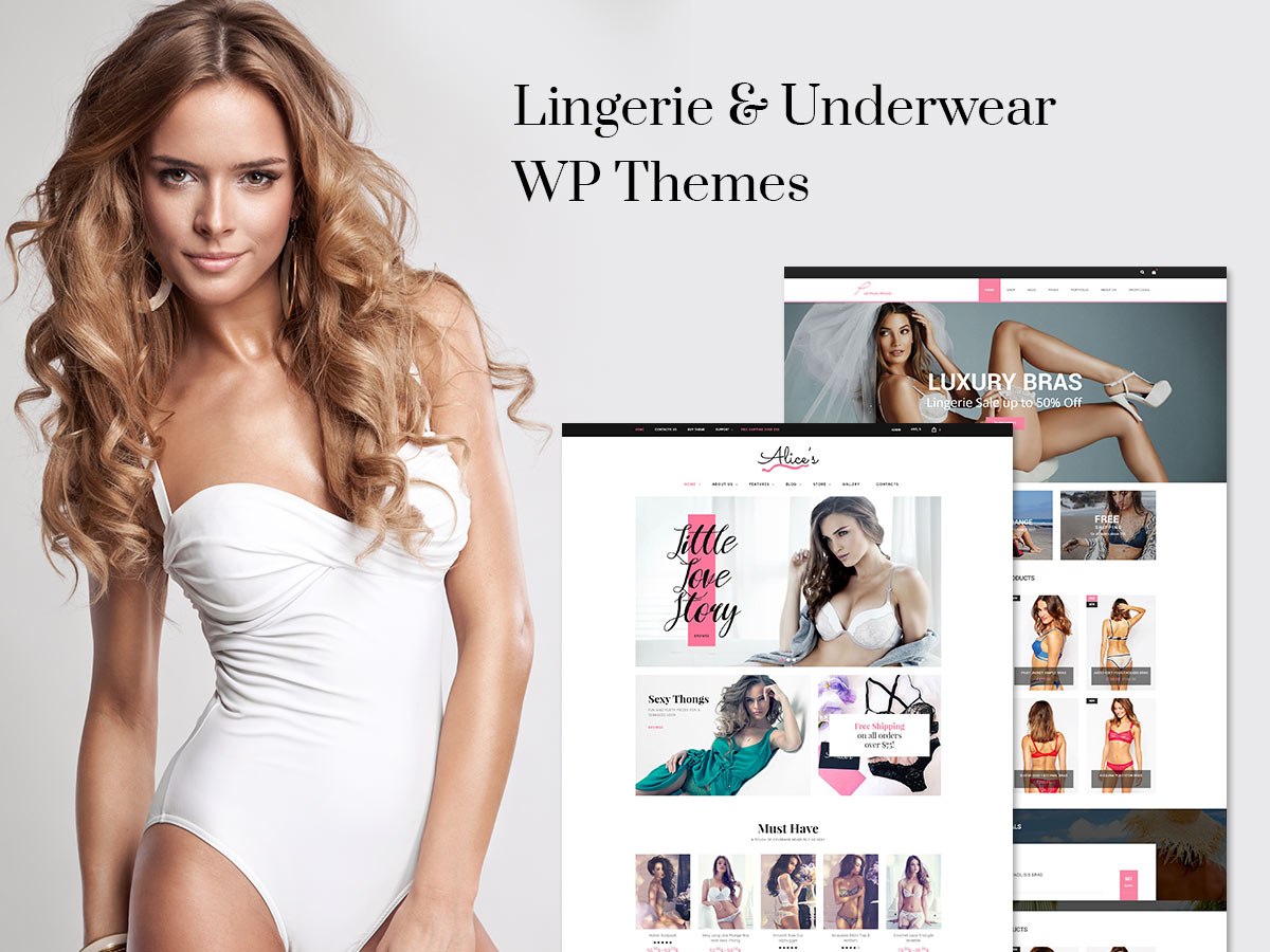 Lingerie and Underwear WordPress eCommerce Themes for April 2017
