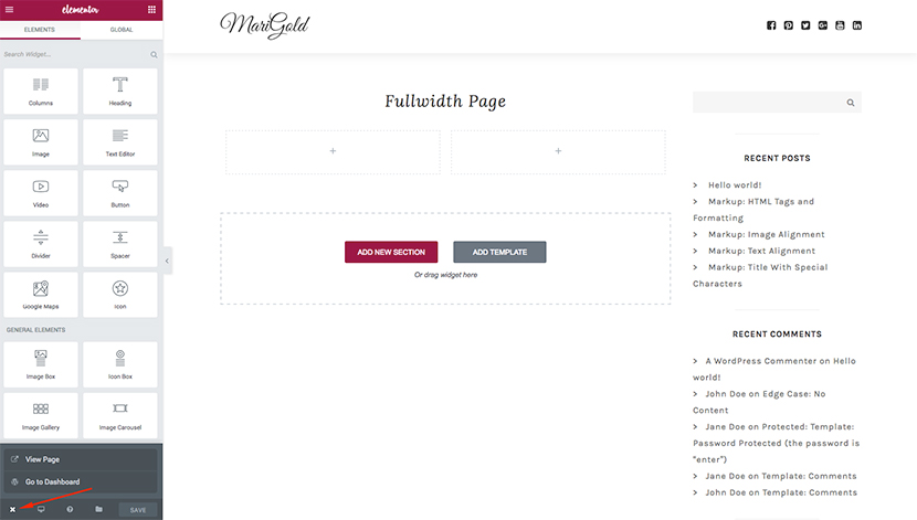 How to Create Full-Width Layouts with Elementor for