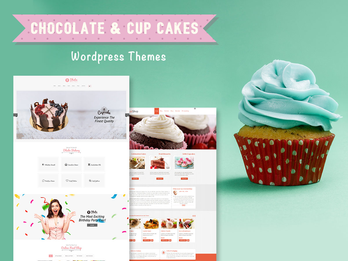 Chocolate and Cupcakes WordPress Themes for Sweets Stores and Confectioneries