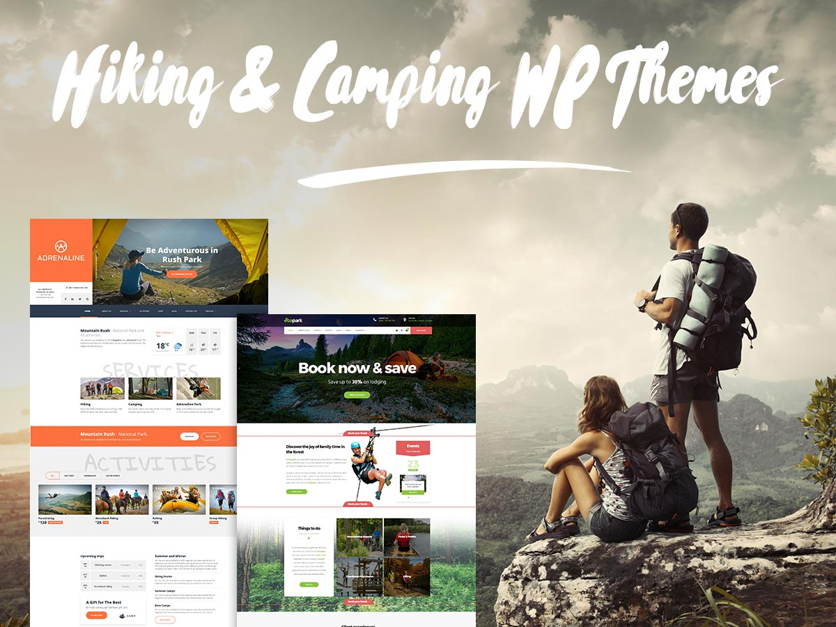 Hiking and Camping WordPress Themes for Trips and Adventures Addicts