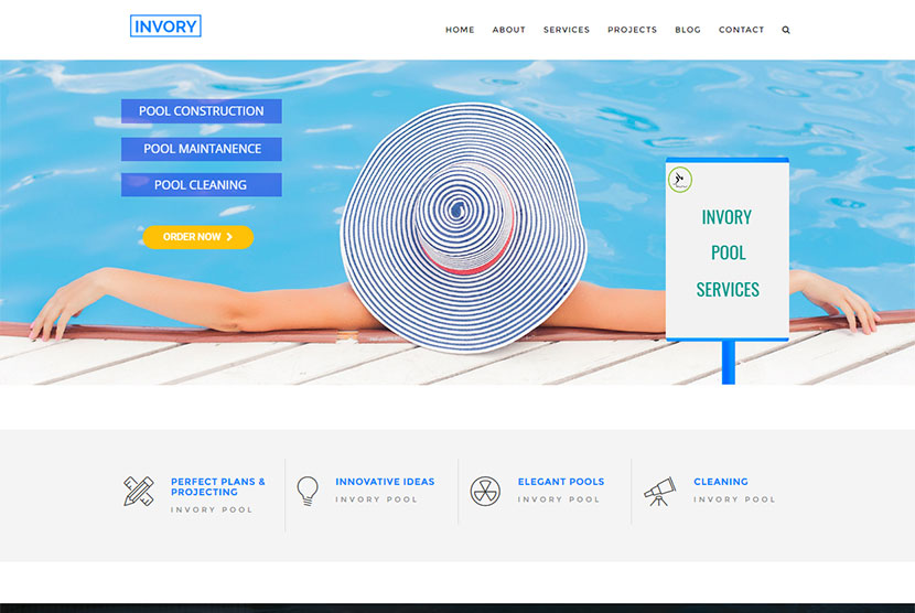 A Multi Concept WordPress Theme Designed For Swimming Clubs, Travel Agency,  Construction, Laundry And Cleaning Businesses. Of Course You Can Choose Any  Of ...
