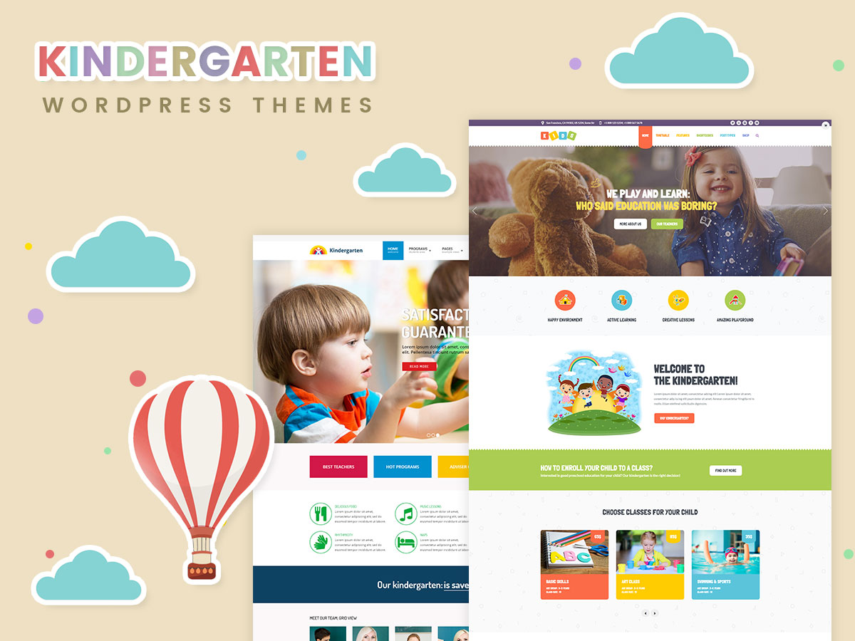 Kindergarten, Infant Development and Pre-School WordPress Themes