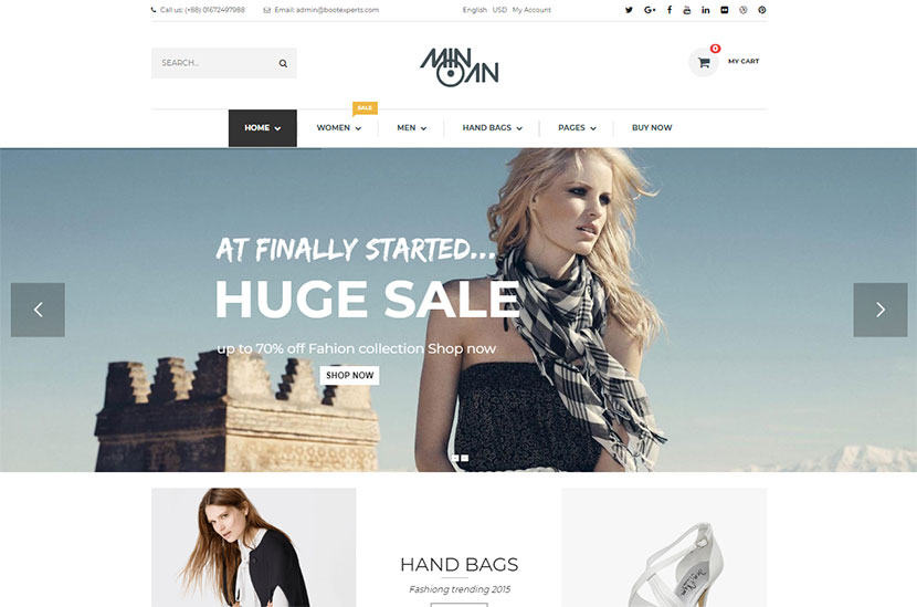 Clothes And Shoes Wordpress Themes For Fashion Stores And Ecommerce Websites 2017 Wp Daddy