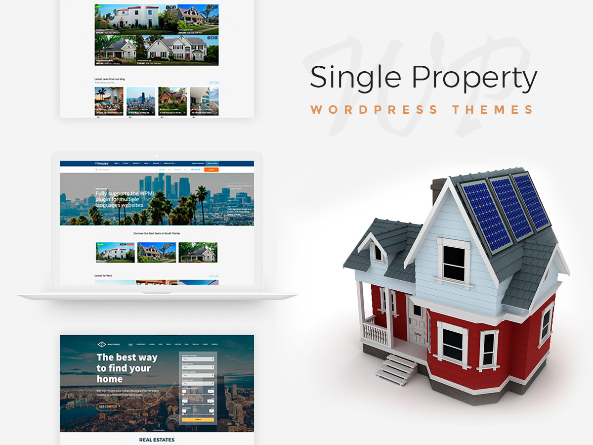 Single Property, Rental and Real Estate WordPress Themes for 2017