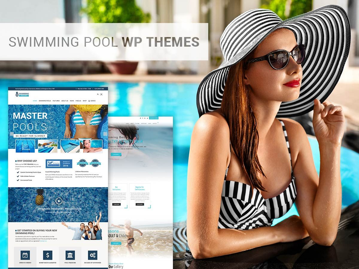 Swimming School and Swimming Pool WordPress Themes for Spring 2017