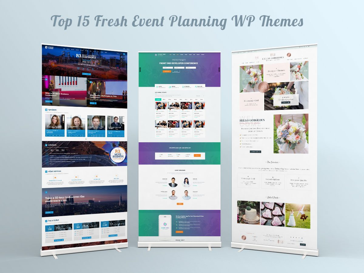 Top 15 Fresh and Popular Event Planning WordPress Themes for April 2017