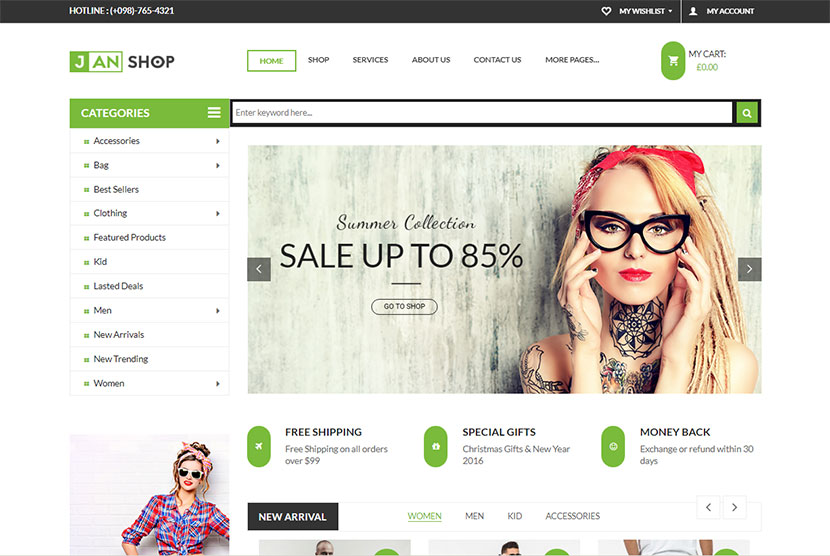 Clothes and Shoes WordPress Themes for Fashion Stores and eCommerce ...