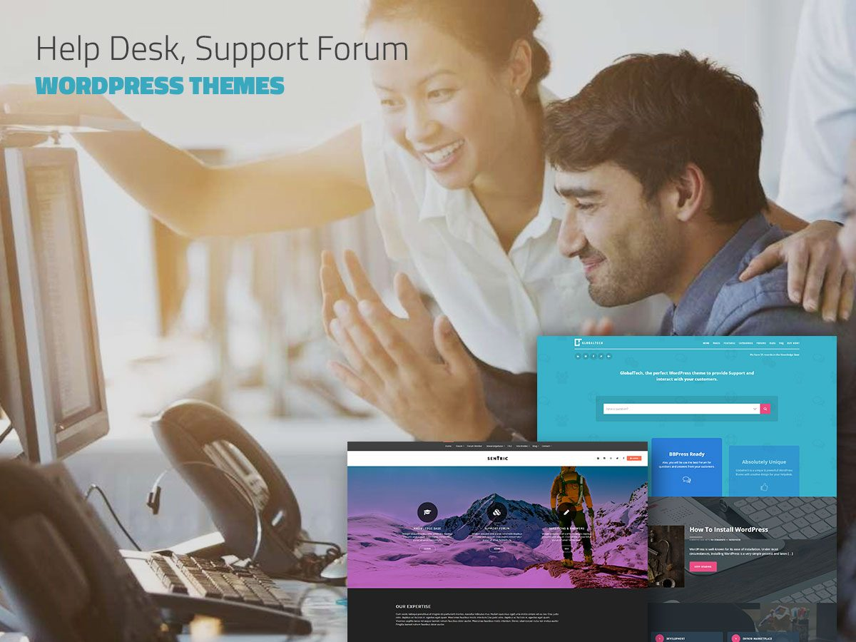 20 Helpdesk, Support Forum and Knowledge Base WordPress Themes - May 2017