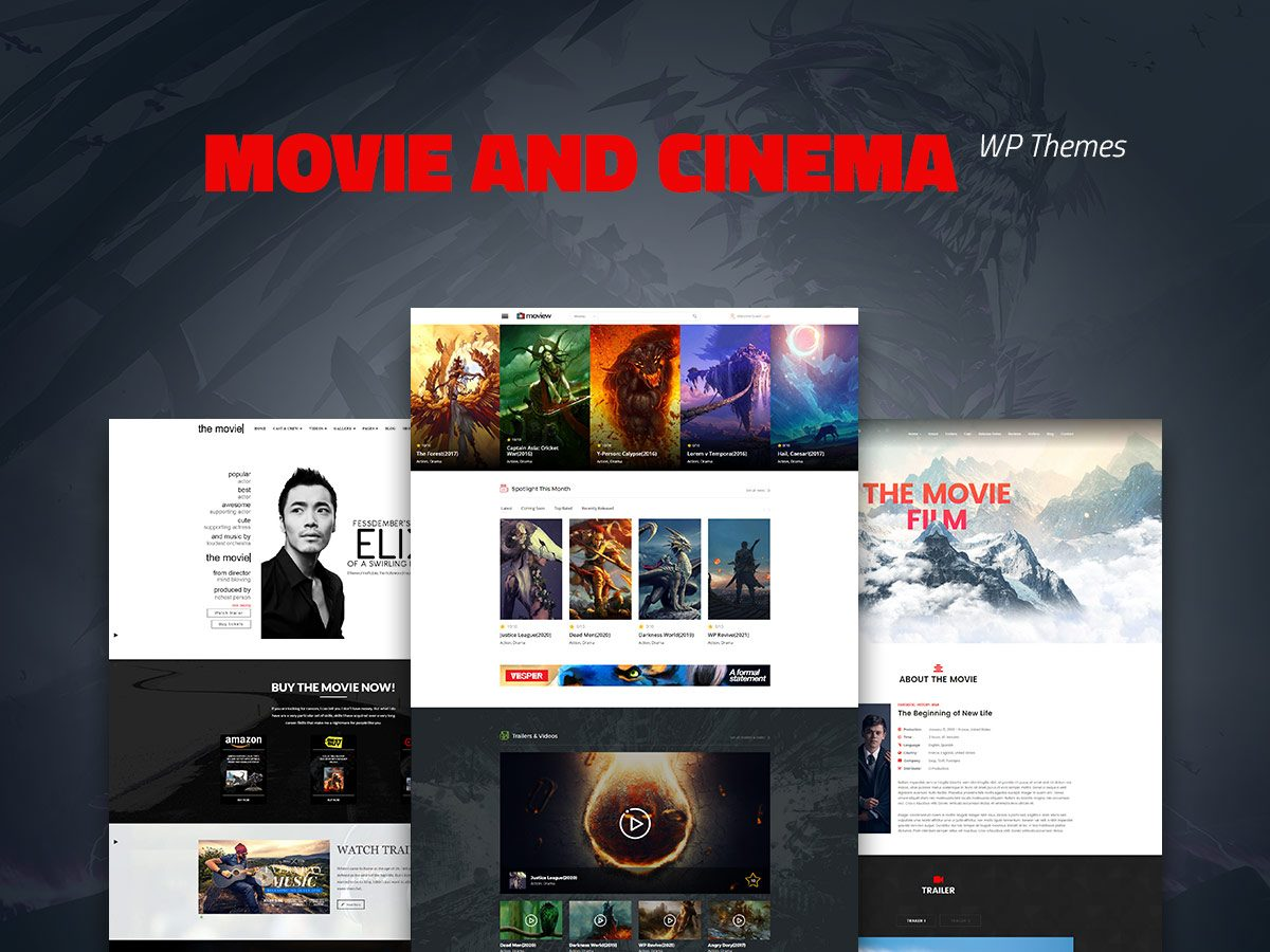 20 Movie and Cinema WordPress Themes for Film Buffs