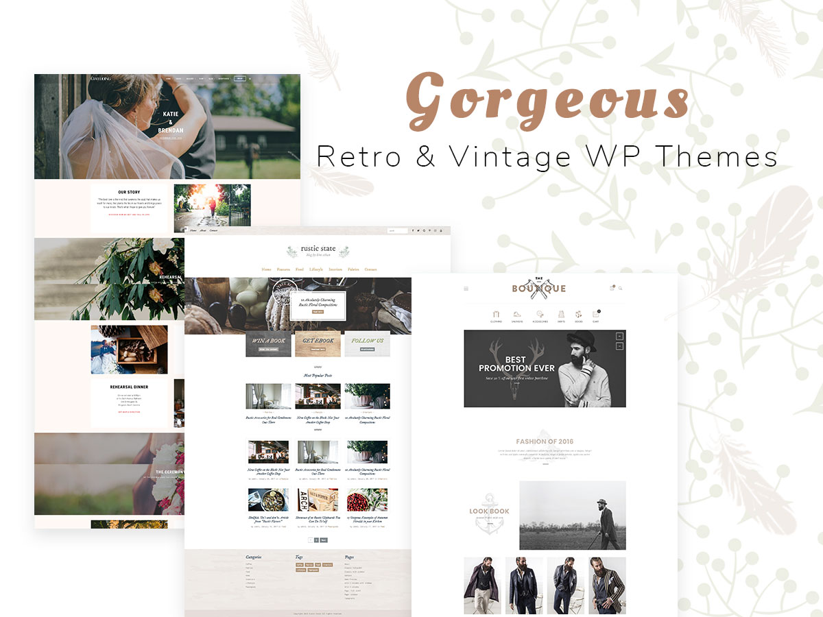 Gorgeous Retro and Vintage WordPress Themes – Premium Collection