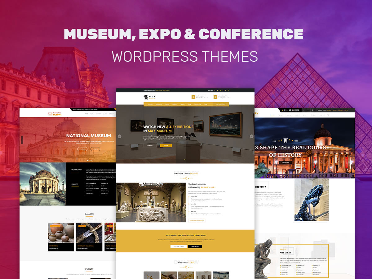 Museum, Expo and Conference WordPress Themes for Exhibitions Lovers