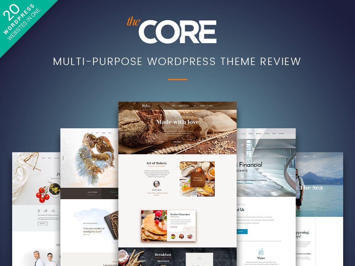 The Core - Multi-Purpose WordPress Theme Review
