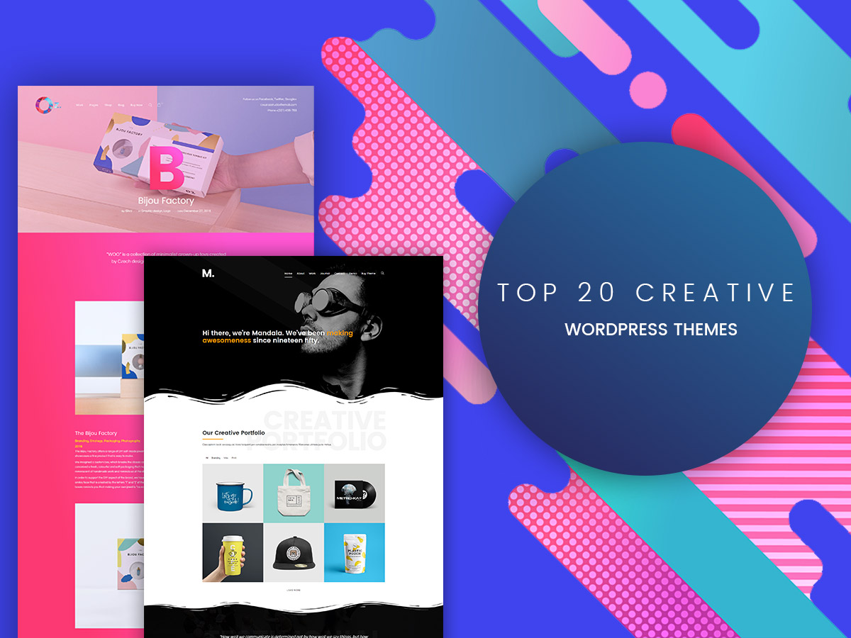 Top 20 Creative WordPress Themes - Agency, Design, Photo and More