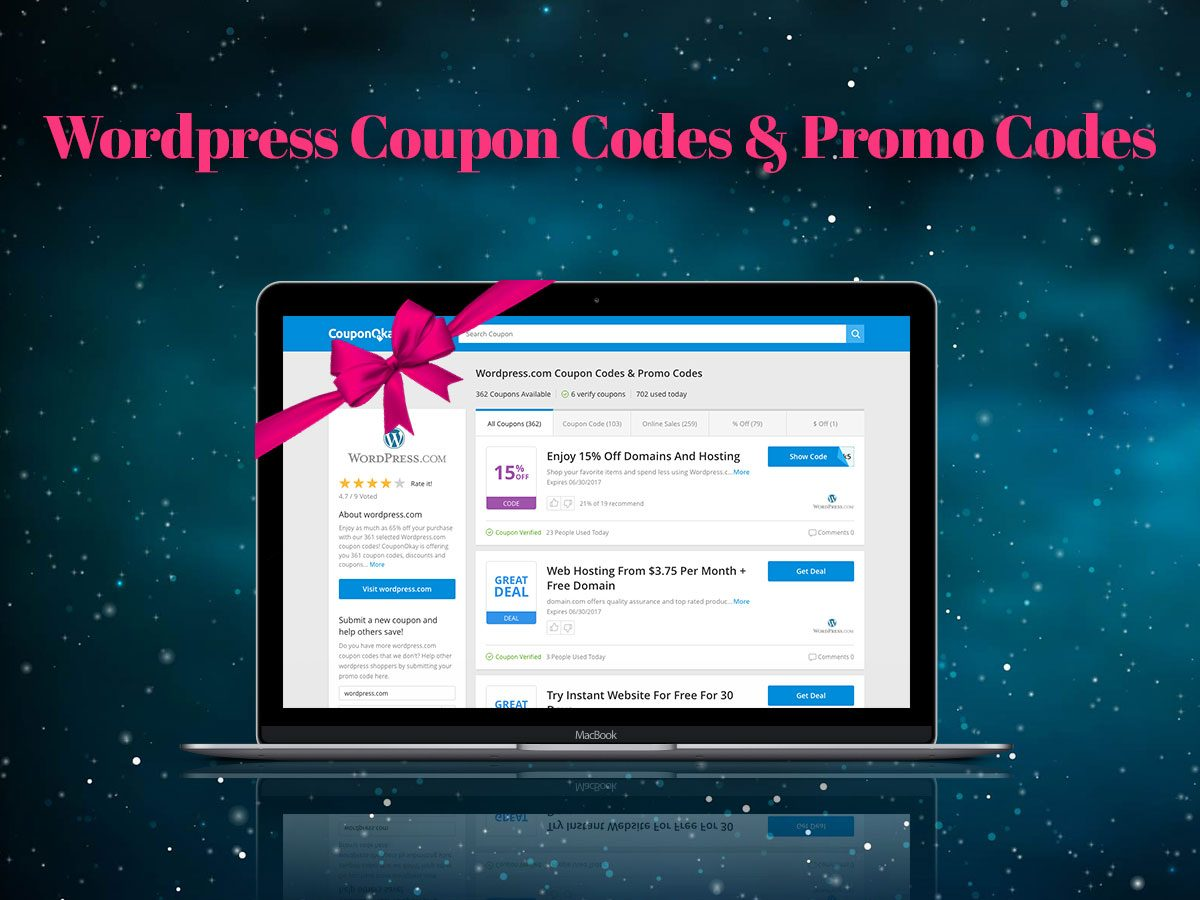 Wordpress coupon code 2018