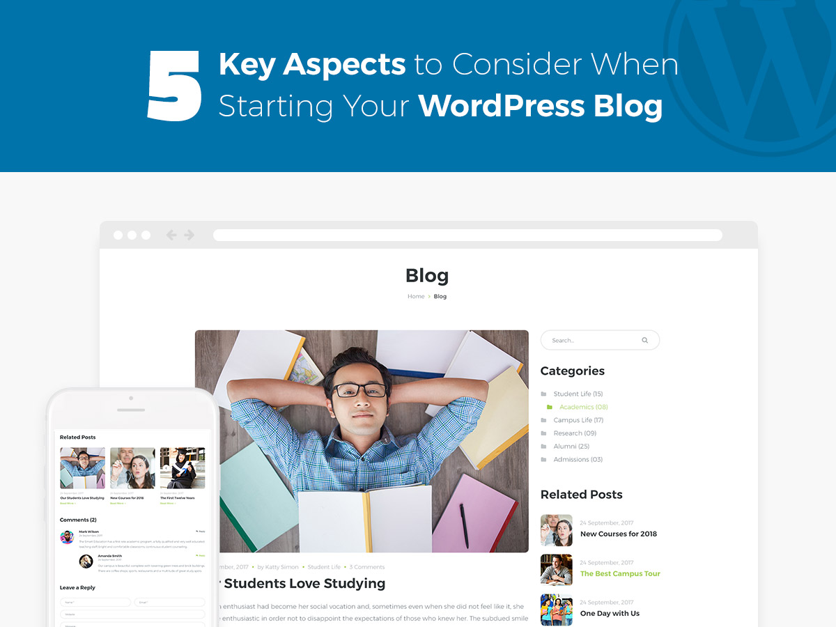 5 Key Aspects to Consider When Starting Your WordPress Blog